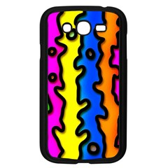 Digitally Created Abstract Squiggle Stripes Samsung Galaxy Grand DUOS I9082 Case (Black)
