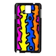Digitally Created Abstract Squiggle Stripes Samsung Galaxy Note 3 N9005 Case (Black)