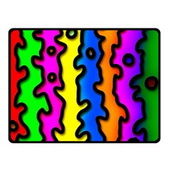 Digitally Created Abstract Squiggle Stripes Double Sided Fleece Blanket (Small)