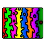 Digitally Created Abstract Squiggle Stripes Double Sided Fleece Blanket (Small)  45 x34 Blanket Back