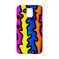 Digitally Created Abstract Squiggle Stripes Samsung Galaxy S5 Hardshell Case