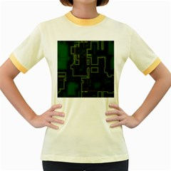A Completely Seamless Background Design Circuit Board Women s Fitted Ringer T Shirts