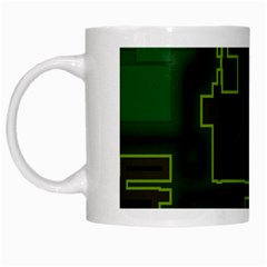 A Completely Seamless Background Design Circuit Board White Mugs