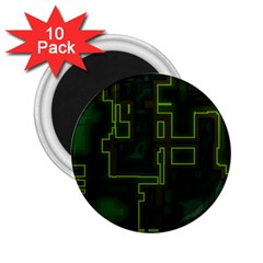 A Completely Seamless Background Design Circuit Board 2 25  Magnets (10 Pack)