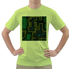 A Completely Seamless Background Design Circuit Board Green T Shirt