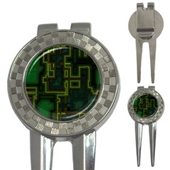 A Completely Seamless Background Design Circuit Board 3-in-1 Golf Divots