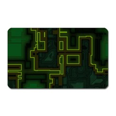 A Completely Seamless Background Design Circuit Board Magnet (Rectangular)