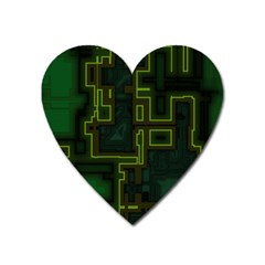 A Completely Seamless Background Design Circuit Board Heart Magnet
