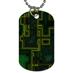 A Completely Seamless Background Design Circuit Board Dog Tag (Two Sides)