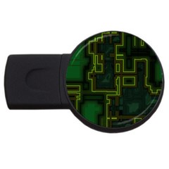 A Completely Seamless Background Design Circuit Board USB Flash Drive Round (2 GB)