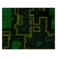 A Completely Seamless Background Design Circuit Board Rectangular Jigsaw Puzzl