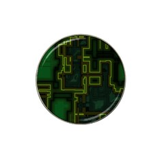A Completely Seamless Background Design Circuit Board Hat Clip Ball Marker (4 Pack)