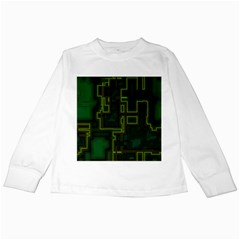 A Completely Seamless Background Design Circuit Board Kids Long Sleeve T-Shirts