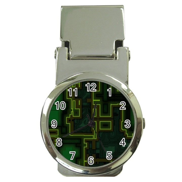 A Completely Seamless Background Design Circuit Board Money Clip Watches