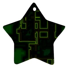 A Completely Seamless Background Design Circuit Board Star Ornament (two Sides)