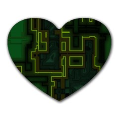 A Completely Seamless Background Design Circuit Board Heart Mousepads
