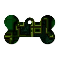 A Completely Seamless Background Design Circuit Board Dog Tag Bone (one Side)