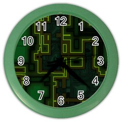 A Completely Seamless Background Design Circuit Board Color Wall Clocks