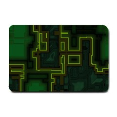 A Completely Seamless Background Design Circuit Board Small Doormat