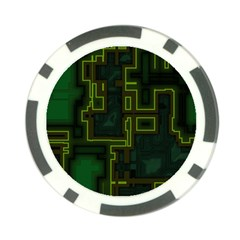 A Completely Seamless Background Design Circuit Board Poker Chip Card Guard