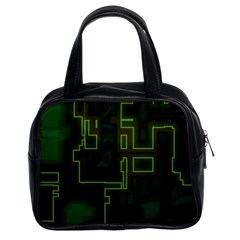 A Completely Seamless Background Design Circuit Board Classic Handbags (2 Sides)