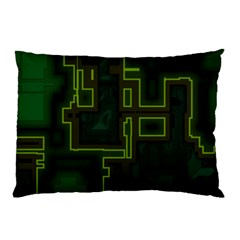 A Completely Seamless Background Design Circuit Board Pillow Case