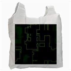A Completely Seamless Background Design Circuit Board Recycle Bag (two Side)