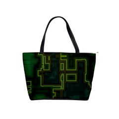 A Completely Seamless Background Design Circuit Board Shoulder Handbags