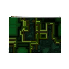 A Completely Seamless Background Design Circuit Board Cosmetic Bag (large)