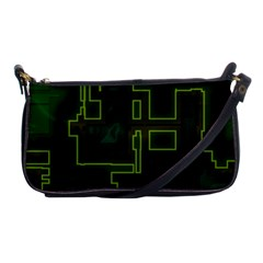 A Completely Seamless Background Design Circuit Board Shoulder Clutch Bags