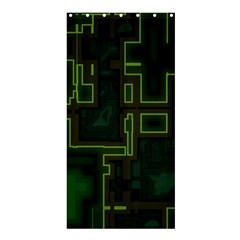 A Completely Seamless Background Design Circuit Board Shower Curtain 36  X 72  (stall)
