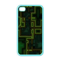 A Completely Seamless Background Design Circuit Board Apple iPhone 4 Case (Color)
