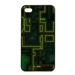 A Completely Seamless Background Design Circuit Board Apple Iphone 4/4s Seamless Case (black)