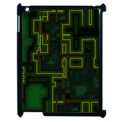 A Completely Seamless Background Design Circuit Board Apple Ipad 2 Case (black)