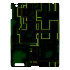 A Completely Seamless Background Design Circuit Board Apple iPad 3/4 Hardshell Case
