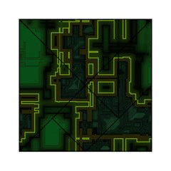 A Completely Seamless Background Design Circuit Board Acrylic Tangram Puzzle (6  X 6 )