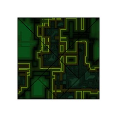 A Completely Seamless Background Design Circuit Board Acrylic Tangram Puzzle (4  x 4 )