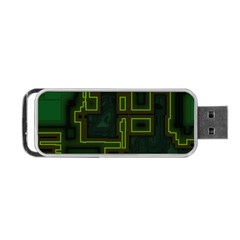 A Completely Seamless Background Design Circuit Board Portable Usb Flash (two Sides)