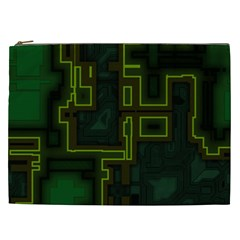 A Completely Seamless Background Design Circuit Board Cosmetic Bag (xxl)