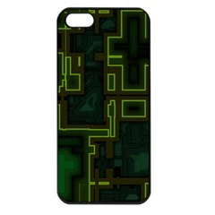 A Completely Seamless Background Design Circuit Board Apple iPhone 5 Seamless Case (Black)
