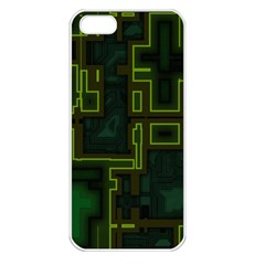 A Completely Seamless Background Design Circuit Board Apple iPhone 5 Seamless Case (White)
