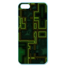 A Completely Seamless Background Design Circuit Board Apple Seamless Iphone 5 Case (color)