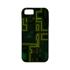 A Completely Seamless Background Design Circuit Board Apple Iphone 5 Classic Hardshell Case (pc+silicone)