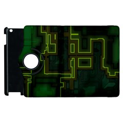 A Completely Seamless Background Design Circuit Board Apple iPad 2 Flip 360 Case