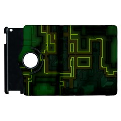 A Completely Seamless Background Design Circuit Board Apple iPad 3/4 Flip 360 Case