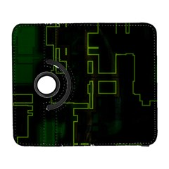 A Completely Seamless Background Design Circuit Board Galaxy S3 (Flip/Folio)