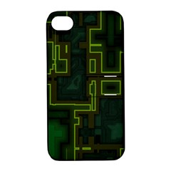 A Completely Seamless Background Design Circuit Board Apple iPhone 4/4S Hardshell Case with Stand