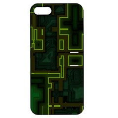 A Completely Seamless Background Design Circuit Board Apple iPhone 5 Hardshell Case with Stand