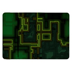 A Completely Seamless Background Design Circuit Board Samsung Galaxy Tab 8 9  P7300 Flip Case