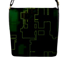 A Completely Seamless Background Design Circuit Board Flap Messenger Bag (L)